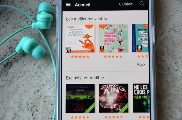Application Audible - Livres audio